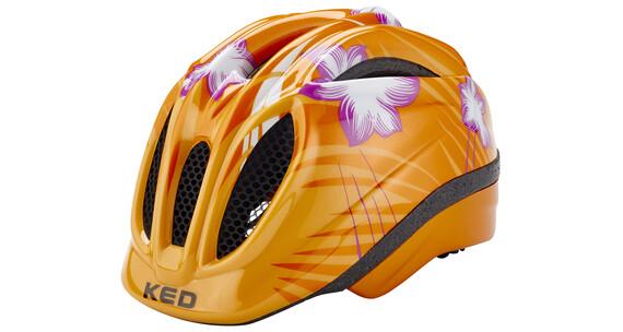 KED Meggy Helmet orange flower